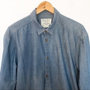 Jack & Jones 75 Men Size L Shirt Denim Long Sleeve